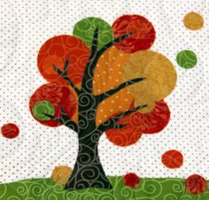 Glorious Autumn Block Party – Cherry Guidry and Free-Quilting.com / Quilting Gallery