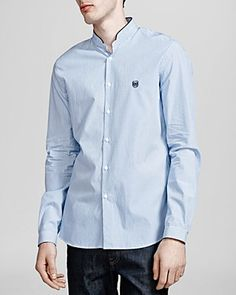 The Kooples Striped Popeline Button Down Shirt - Slim Fit | Bloomingdale's
