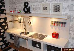 DYI cuisine ikea Kids Decor, Diy For Kids, Playroom, Kids Play Kitchen, Mini Kitchen, Toy Kitchen, Kitchen Ideas, Girl Room, Girls Bedroom
