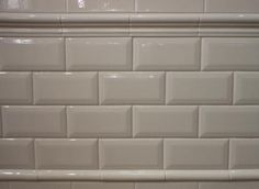 "For the backsplash: 3""x6"" - Beveled Crackled Subway Tile - Adex Hampton Bone / Biscuit from Classic Tile Inc"
