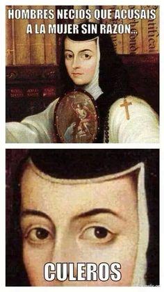 Sor Juana Ines de la Cruz, ¡como amo a esta mujer! ♥ ♥ ♥ ♥ ♥ #compartirvideos…