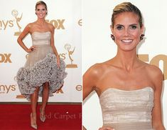 Heidi Klum In Christian Siriano - 2011 Emmy Awards - Red Carpet Fashion Awards
