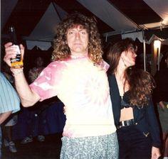 Sunday Galiano & Robert Plant of Led Zeppelin. 1990 Chicago