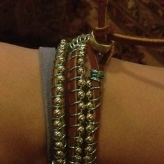 DIY beaded wrap bracelet on leather; what a success I love DIY jewelry @HonestlyWTF