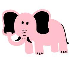 Elephant Pink clip art
