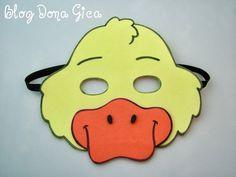 Molde mascara de pato - Imagui