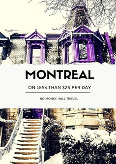 How to do Montreal on $25 per day