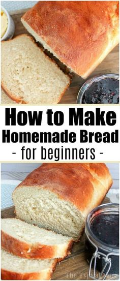 Baking bread at home isn't as scary as it sounds, and is easier to make than you. - The Typical Mom backen recipes bread Baking bread at home isn't as scary as it sounds, and is easier to make than you. - The Typical Mom backen recipes bread Homemade Sandwich Bread, Sandwich Bread Recipes, Yeast Bread Recipes, Easy Homemade Bread Recipes, Easy Bread Machine Recipes, Baking Bread At Home, Artisan Bread, How To Make Bread, Crockpot