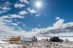 Last spring (2014), geese hunt/geese egg's picking camp area/fishing grounds and for seal hunts.  Photo by Jaaki Vuili
