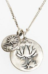 Satya Jewelry Lotus Blooms Engraved Pendant Necklace