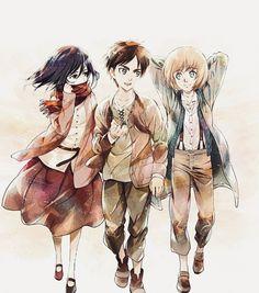 Attack On Titan Tattoo, Attack On Titan Eren, Attack On Titan Fanart, Armin Titan Form, Eren X Armin, Eren And Mikasa, Manga Anime, Eremika, Anime Sketch