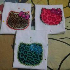 franelas decoradas en algodon para niños