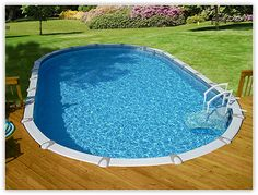 Swimming Pool - Above ground oval w/decking