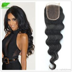 Brazilian Human Hair With Closure Body Wave Human Hair Weave Queen… Queen Hair, Lace Closure, Body Wave, Weave Hairstyles, 4x4, Extensions, Wigs, Hair Styles, Dresses