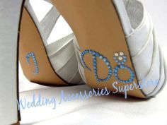 "Advantage Bridal I Do Wedding Shoe Stickers with Light Blue Engagement Ring by Advantage Bridal. $6.95. Let your shoes say ""I Do"" for you with our engagement ring style! These adorable clear and light blue rhinestone I Do stickers are self-adhesive and can be easily attached to the sole of your wedding shoes, toasting glasses, and other bridal accessories."