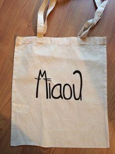 Tote Bag Miaou Chat