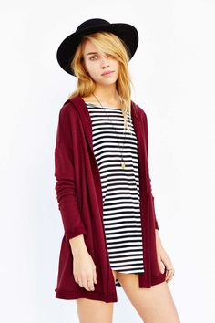 BDG Hooded French Terry Cardigan - Urban Outfitters