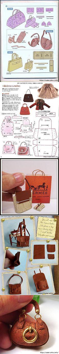 doll purse tutorial | НАЧИНАЮЩЕМУ КУКОЛЬНИКУ. СУМОЧКИ ДЛЯ КУКОЛ.