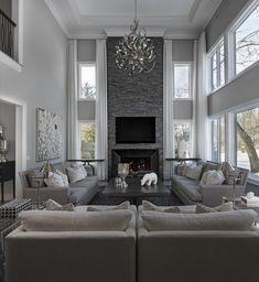 55 elegant living room decor colour schemes 42 - Home Accents living room Elegant Living Room, Living Room Grey, Formal Living Rooms, Home Living Room, Home Interior Design, Interior Design Living Room, Living Room Designs, Interior Ideas, Interior Livingroom
