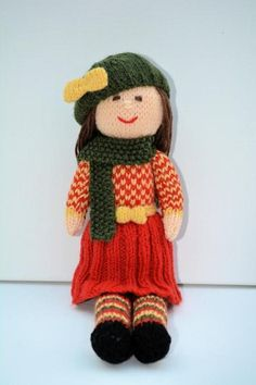 Aster - An Autumn Doll Knitting Pattern | Craftsy