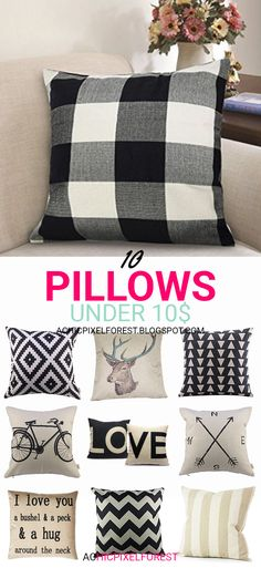 10 Pillows Under 10$