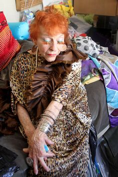 This woman is amazing, 91 years old & fierce!  Ilona Royce Smithkin. (She makes her own eyelashes)