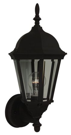 Craftmade Z316 Straight Glass 1 Light Outdoor Wall Sconce - 7.75 Inches Wide Matte Black Outdoor Lighting Wall Sconces Outdoor Wall Sconces