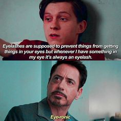 45 Unforgotable Quotes Collected From Spiderman And Avengers Endgame - Movie - Ideas of trending and latest movie - - spiderman; spiderman far from home; Avengers Humor, Funny Marvel Memes, Marvel Jokes, Dc Memes, Funny Jokes, Hilarious, Marvel Dc, Upcoming Marvel Movies, Dc Comics