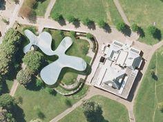 Aerial photo - SANAA Serpentine Pavilion