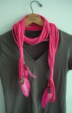 String Theory BrokenMulti string double ended scarf by KillPrettyPlease, $25.00