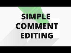 Simple Comment Editing — WordPress Plugins