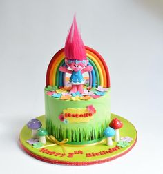 Poppy/ trolls cake - Cake by Cakes for mates