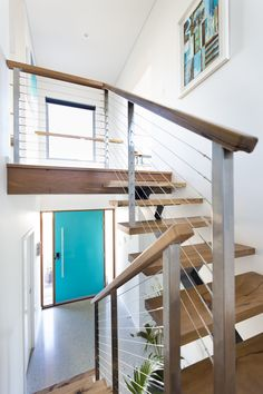 Timber and wire balustrade For free online instant quote use our website Balustrade Builder http://www.miamistainless.com.au/balustrade-builder-start