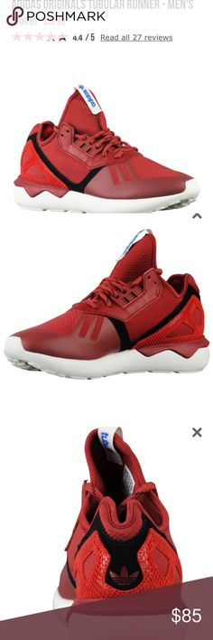 ✨🆕 Adidas Tubular Runner Mens✨ Brand new without box in excellent condition. Neoprene underlay produces a sock-like fit with an overlay that keeps the upper lightweight and clean. Laser-cut heel cage adds dimension that pushes it into fashion territory. Ghillie lacing system has also been re-imagined in a simplified way ensuring that this future-facing shoe is still laced with adidas DNA. Rubber outsole supplies durability and traction on a range of surfaces. Adidas Shoes Sneakers