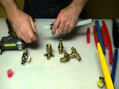 How to join pex (plastic pipe) five different ways. Plumbing Tips! - YouTube