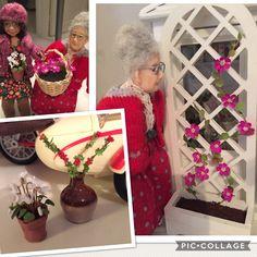 Pascale Garnier kiteistä tehty kukkia : mm.valkoinen syklaami ja köynnöksessä kärhö Clematis ❣️