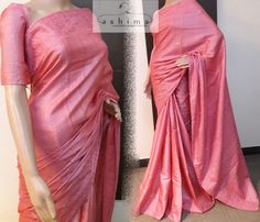 Code:1805173 - Price INR:8890/- , Tussar saree With Self Embroidered Border And Pallu.