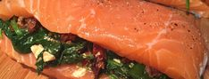 Fill the salmon Fish Recipes, Low Carb Recipes, Healthy Recipes, Salmon Dishes, Fodmap, Seafood, Bbq, Food Porn, Good Food