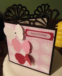 My son mentioned tonight he was off to a celebratory birthday dinner to his best friend's girl friend.  I couldn't resist giving a card for ...