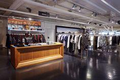 STEFFL Department Store Vienna - District 1  Credit: Maximilian Salzer Photography Department Store, Vienna, Flooring, Closet, Home Decor, Armoire, Decoration Home, Room Decor, Wood Flooring