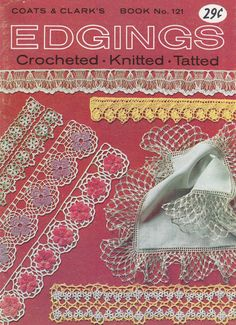 Vintage Edgings Crochet Pattern Booklet Tatting by PaperButtercup