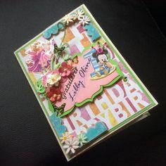 1 Year Girl B'day Card