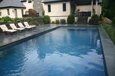 Ref ID - Simple pool with sun shelf and double stair entry with auto cover in Greenwich, CT