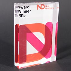 New Designers Award Environmental Graphic Design, Environmental Graphics, Event Branding, Identity Branding, Visual Identity, Plaque Design, Custom Trophies, Acrylic Awards, Award Plaques