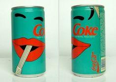 vintage coke cans...