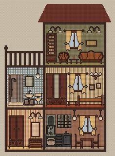 Dollhouse cross stitch