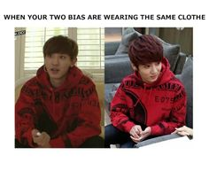 Lol. Srsly gonna find that hoodie! Jeon Jungkook and Chanyeol <3 <3