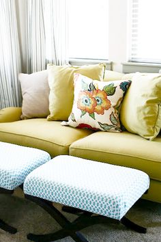 Sears bench transformed with new fabric