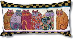 Laurel Burch™ Feline Family Portrait Oblong Pillow - NEW!!! – My Three Cats & Co.