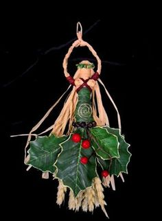 Wiccan Spiral Yule Goddess Handcrafted Altar Figure or Yule Decoration from Etsy Shop PositivelyPagan